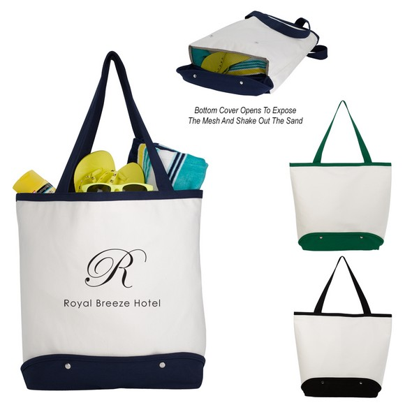 JH3221 Sifter BEACH Tote BAG With Custom Imprint