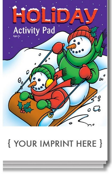 SC0509 HOLIDAY Activity Pad with Custom Imprint