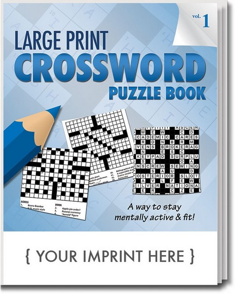 SCS1900 Large Print Crossword PUZZLE Book With Custom Imprint