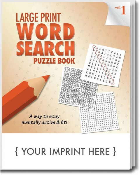 SCS1930 Large Print Word Search PUZZLE Book With Custom Imprint