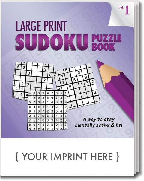SCS1960 Large Print Sudoku PUZZLE Book With Custom Imprint