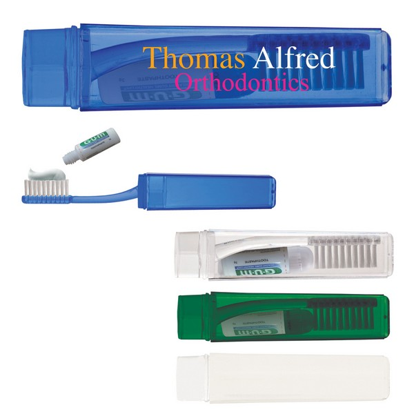 JH9447 Travel Toothbrush With TOOTHPASTE And Custom Imprint