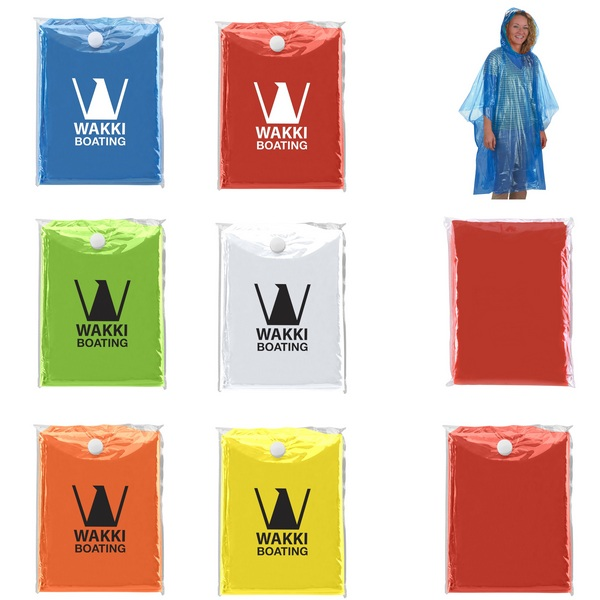 HH7742 Disposable PONCHO With Custom Imprint