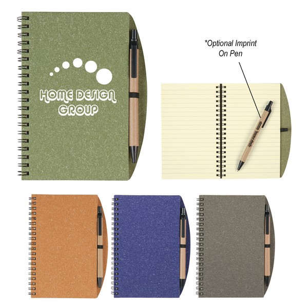 SH6115 VINTAGE Notebook With Pen And Custom Imprint