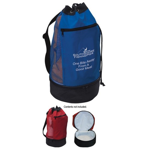 JH3020 BEACH BAG With Insulated Lower Compartment And Custom Imprint
