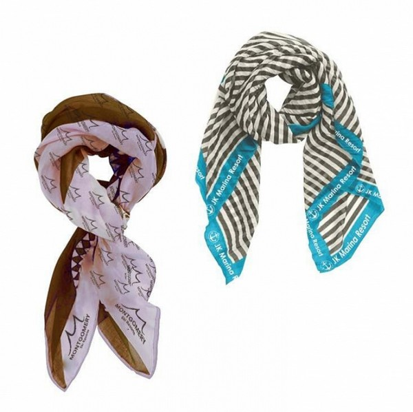 AH26264 Small Chiffon SCARF With Full Color Imprint