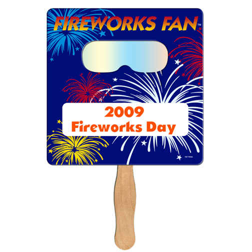 FSF50 Square FIREWORKS Fan With Custom Imprint