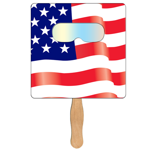 FSF70 Square Flag FIREWORKS Fan With Custom Imprint
