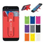 EH257 Silicone Phone Wallet With Stand And Custom Imprint