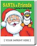 CS0502 Santa and Friends Coloring and Activity Book with Custom Imprint