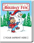 CS0520 Holiday Fun Coloring and Activity Book with Custom Imprint
