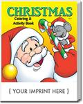 CS0525 Christmas Coloring and Activity Book with Custom Imprint