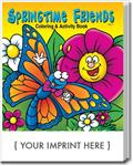 CS0436 Springtime Friends Coloring and Activity Book with Custom Imprint