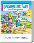 CS0485 Springtime Pals Coloring and Activity Book with Custom Imprint