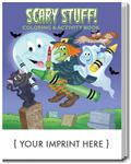 SC0477 Scary Stuff Coloring and Activity Book With Custom Imprint