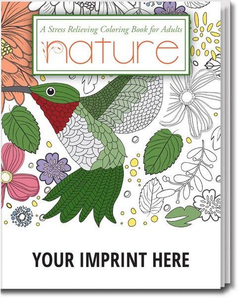 Scs2100 stress reliever nature adult coloring book with Personalized coloring books for adults