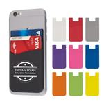 EH222 Dual Pocket Silicone Phone Wallet With Custom Imprint