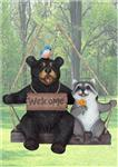 BD31743 Swingin Couple Bear with Raccoon on Swing