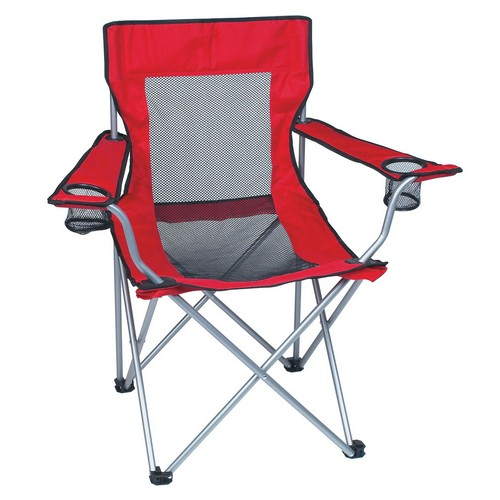 HH7052B Mesh Folding Chair With Carrying Bag Blank No Imprint