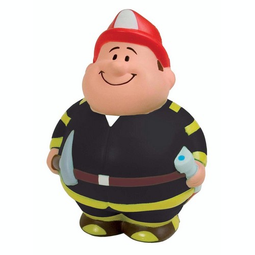 AP26419 Custom Imprinted Fireman Bert Stress Reliever Squeezie