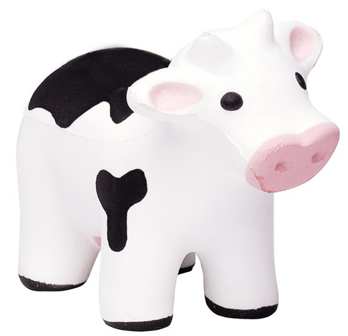 AP26004 Custom Imprinted Cow Stress Reliever Squeezie