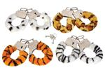 CAHANAN Animal Print Furry Hand Cuffs