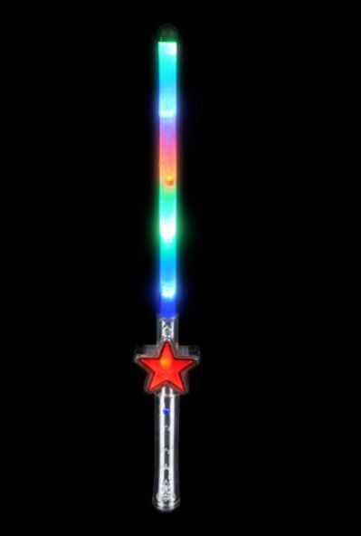 Tr18655 light up star wand for Light up wand