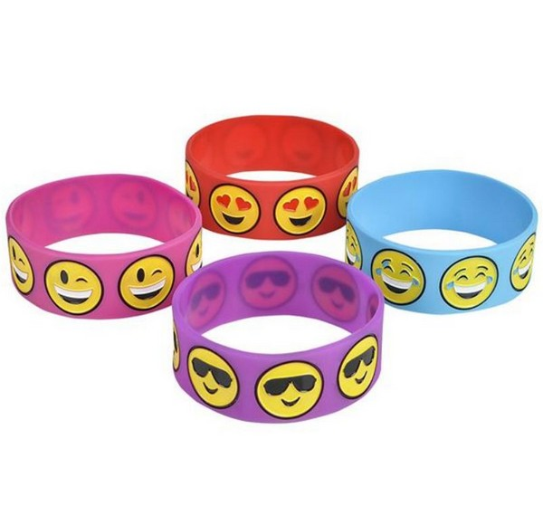 jr41438 emoji wide band silicone bracelet - Support Our Troops Silicone Bracelet