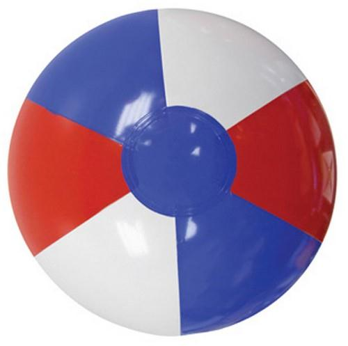 MB16RWB Custom imprinted Red, White and Blue Beach Ball 16""