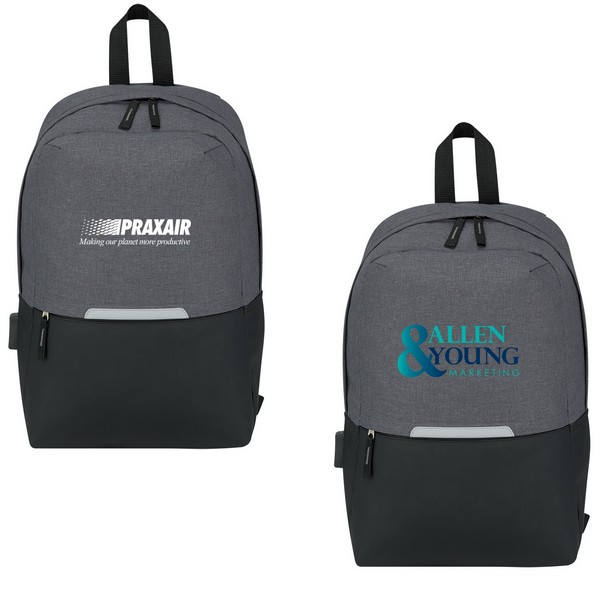 JH3439 COMPUTER Backpack With Charging Port And Custom Imprint
