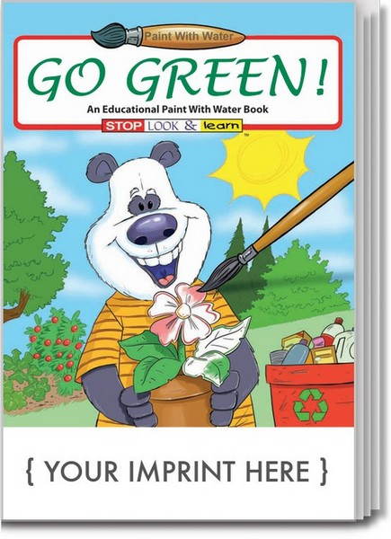 SC1820 Go Green PAINT with Water Book with Custom Imprint