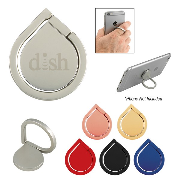 EH2932 Aluminum CELL PHONE Ring And Stand With Custom Imprint