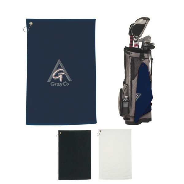 AH6074 Golf TOWEL With Embroidered Custom Imprint