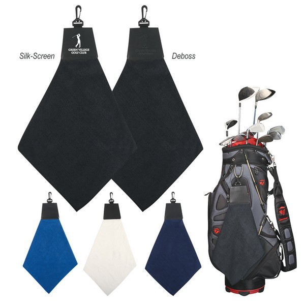 AH6076 Triangle Fold Golf TOWEL With Custom Imprint