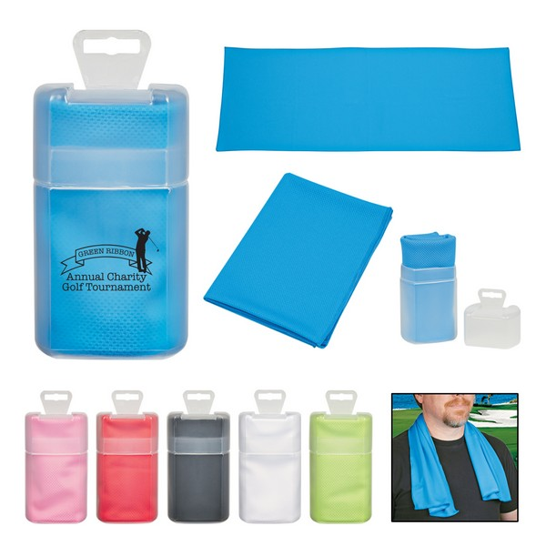 JH7855 Sport TOWEL In Plastic Case With Custom Imprint