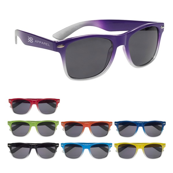 GH6222 Gradient Malibu SUNGLASSES With Custom Imprint