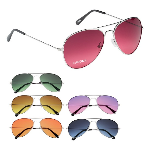 GH6254 Ocean Gradient Aviator SUNGLASSES With Custom Imprint