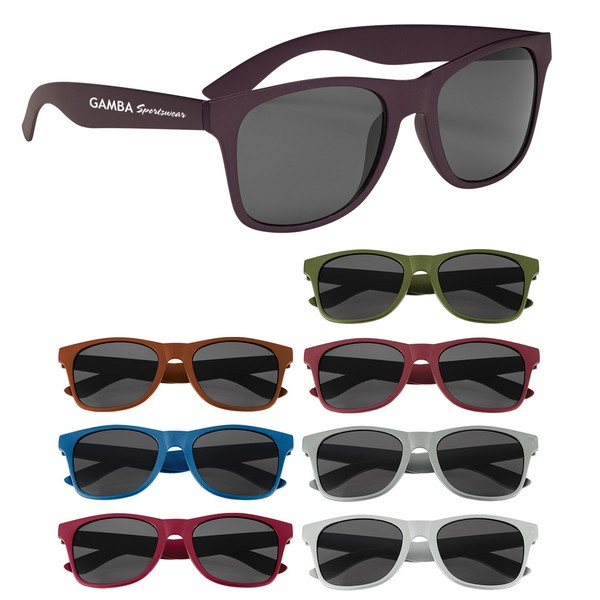 GH6273 Matte Finish Malibu SUNGLASSES With Custom Imprint