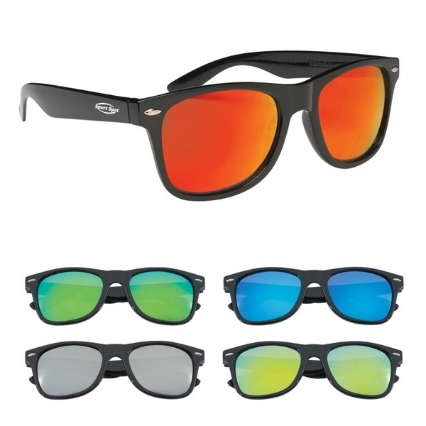 GH6203 Mirrored Malibu SUNGLASSES With Custom Imprint