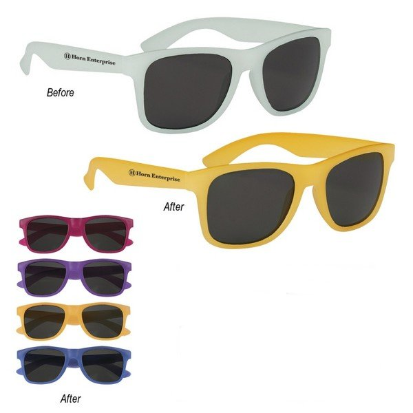 GH6210 Color Changing Malibu SUNGLASSES With Custom Imprint