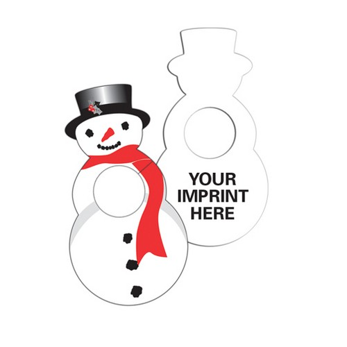 ZLC74446 Snowman DOOR Knob Hanger With Custom Imprint