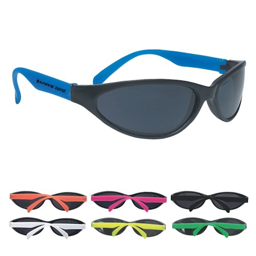 GH6225 Wave Rubberized SUNGLASSES With Custom Imprint