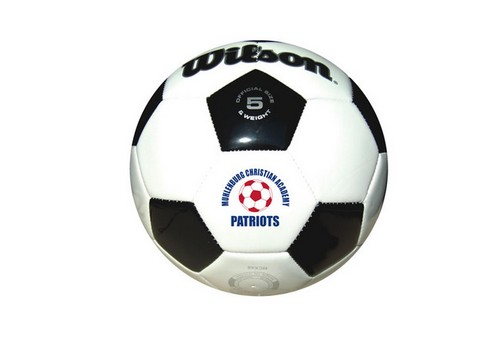 TGB5270-W Wilson Full Size Synthetic Leather SOCCER Ball With Custom I