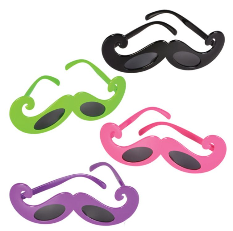 GR3417-IMP Mustache SUNGLASSES With Custom Imprint