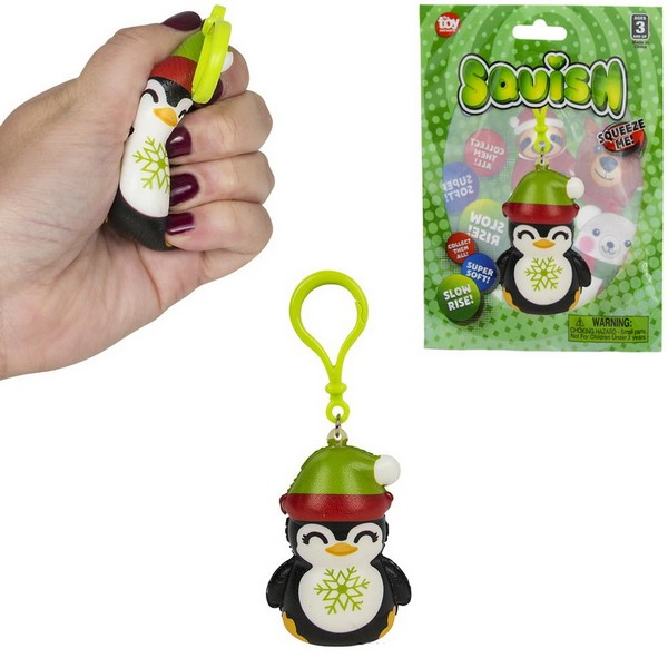 ZR93697 Squish HOLIDAY Penguin Clip On