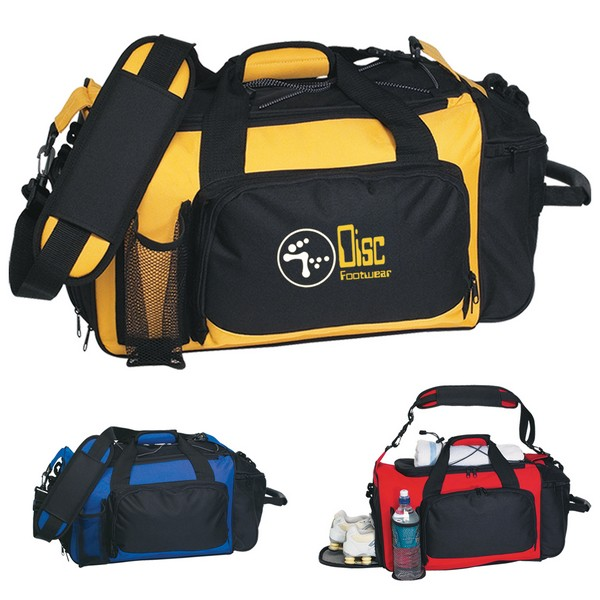 JH3111 Deluxe Sports Duffel Bag With Custom Imprint. Click to see larger  preview c46872a04dbc3