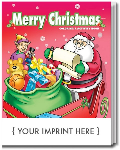 sc0506 merry christmas coloring and activity book with custom imprint