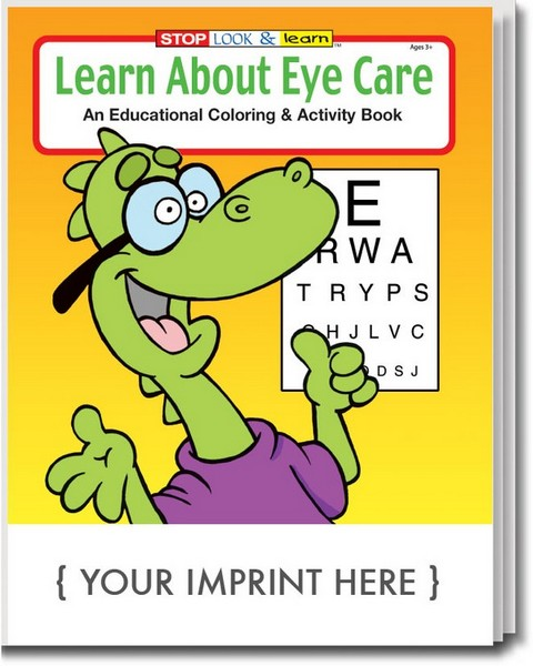 CS0345 Learn About Eye Care Coloring And Activity Book With Custom Imprint