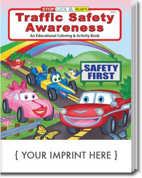 SC0269 Traffic Safety Awareness Coloring And Activity Book With Custom Imprint