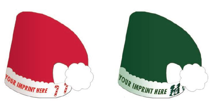 zlc99133 elf santa hat with custom imprint